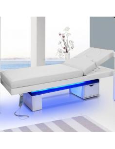 Spakosmetikliege Wood in Grau mit HEIZUNG und mit LED Beleuchtung