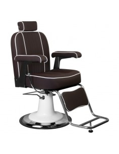 Barber Chair Friseurstuhl unisex TOMMY Make Up Stuhl in Braun