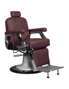 Barber Chair Maurice in rotbraun