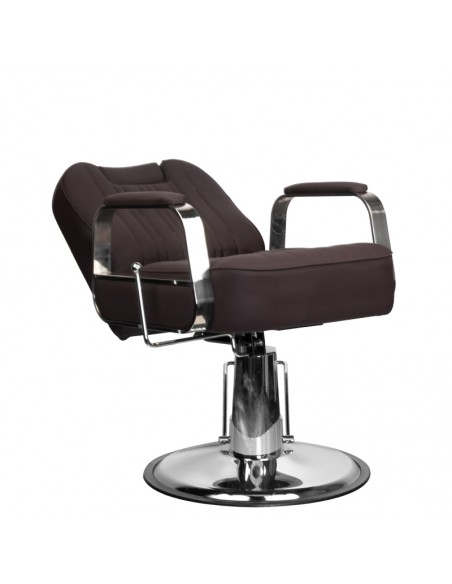 Kundenstuhl BUFO mit flexibler Rückenlehne in braun