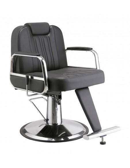 Kundenstuhl TONSOR mit flexibler Rückenlehne in schwarz