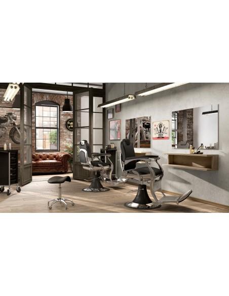 Barberstuhl ANGELO in schwarz