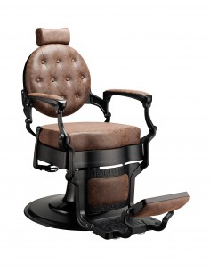 Barber Chair MAE in braun Vintage