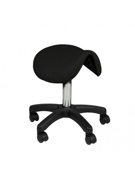 Rollhocker in schwarz mit Sitzhöhe: 44 - 55cm