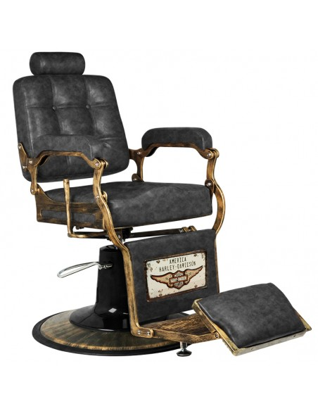 Barber Chair used look mit Goldfarbenen Details