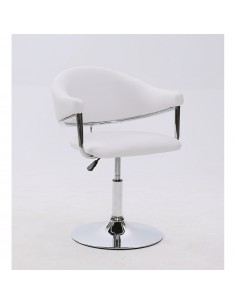 Kundenstuhl Make-up Stuhl in weiss Höhe: 43 - 55cm