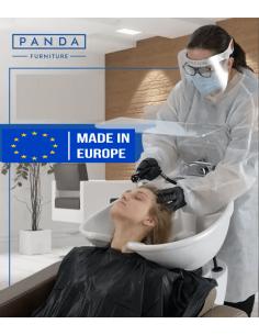 Tragbarer Plexischutz für Waschstühle und Behandlungsliegen
