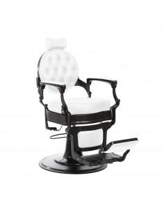 Barber Chair Herrenbedienstuhl MAE mit weissem Sitz