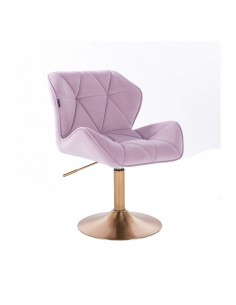 Stuhl Jeanny mit goldenem Fuss Höhe: 40 - 54 cm Farbauswahl
