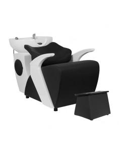 Friseur Wascheinheit SPACE S mit Fußstütze