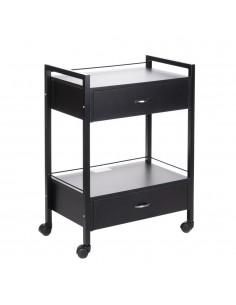 Rollschrank in schwarz mit 2 Schubladen