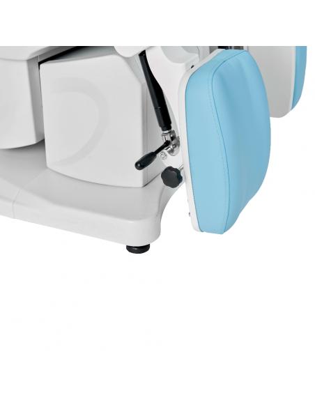 Hydr. Fusspflegestuhl Deneb mit Farbauswahl Blau oder WEISS