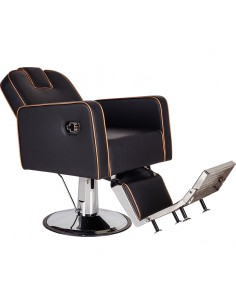 Barber Chair HOLLAND in schwarz Made in Europe