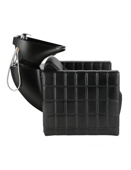 Shampoostuhl QUADRA schwarz mit schwarzem Becken
